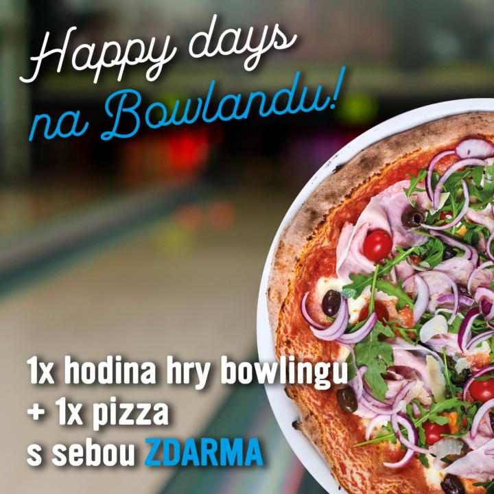 AKCE – Happy days na Bowlandu – k hodině bowlingu pizza ZDARMA!